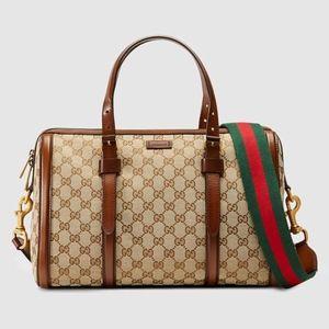0c77c2cba00 Gucci Lady Web Original GG Canvas Boston Bag